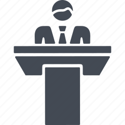 projecting, public cpeech, speaker, tribune icon