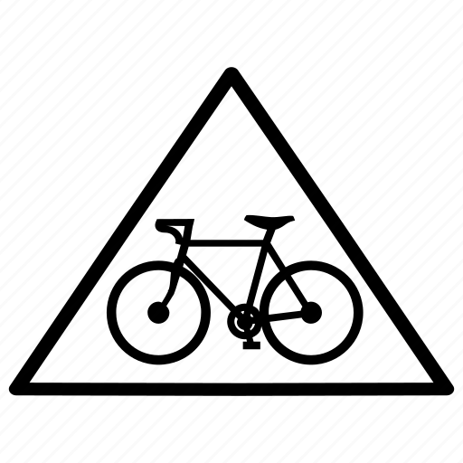 bicycle, bike, cycle, lane, pathway, transportation, yield icon