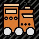public transport, traffic, train, transportation, travelling, vehicle icon
