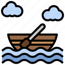 boat, boating, canoe, city, rowboat, rowing, transportation icon