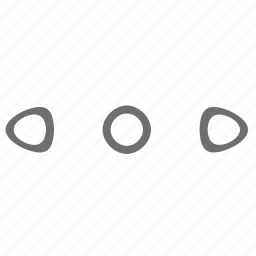 arrow, connection, dot icon