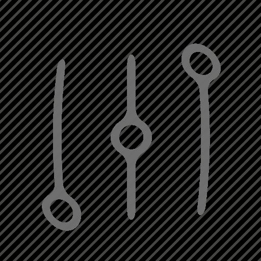audio, layer, level, music icon