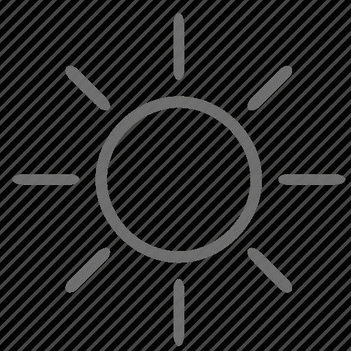 flare, sun icon