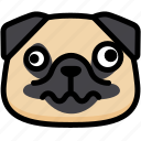 dizzy, emoji, emotion, expression, face, feeling, pug icon