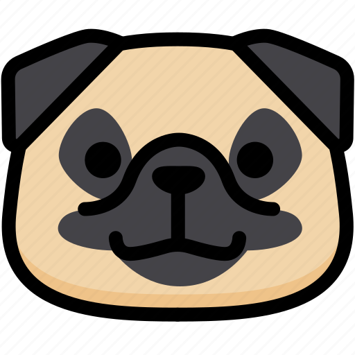 emoji, emotion, expression, face, feeling, grinning, pug icon