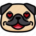 dog, emoji, emotion, expression, face, feeling, love