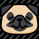 emoji, emotion, expression, face, feeling, nervous, pug