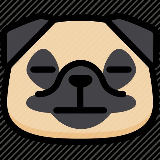 emoji, emotion, expression, face, feeling, neutral, pug icon