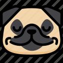 emotion, peace, pug, face, feeling, expression, emoji