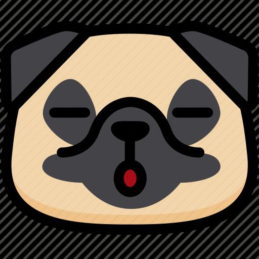 Emotion, face, dog, sleeping, feeling, expression, emoji icon