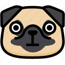 dog, emoji, emotion, expression, face, feeling, stunning icon