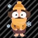 cold, dog, emoji, emoticon, pug, sticker icon
