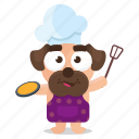 chef, cooking, dog, emoji, emoticon, pug, sticker icon