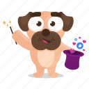 sticker, media, magic, social, emoji, pug, emoticon