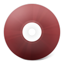 cd, rouge icon