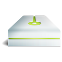 hdd, lime icon