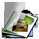mes, photos, vert icon
