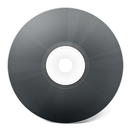 cd, noir icon