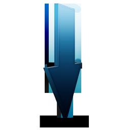 bleu, download icon