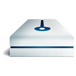 blue, deep, hdd icon