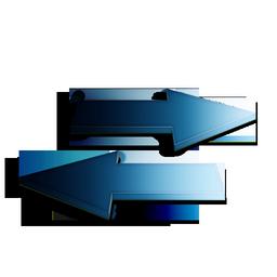 bleu, rafraichir icon