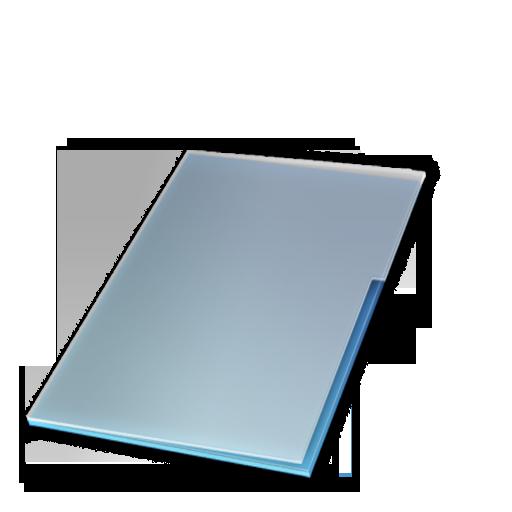 bleu, documents, ferm icon