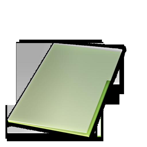 documents, ferm, vert icon