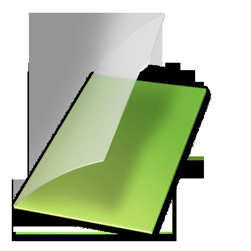 documents, vert, vide icon