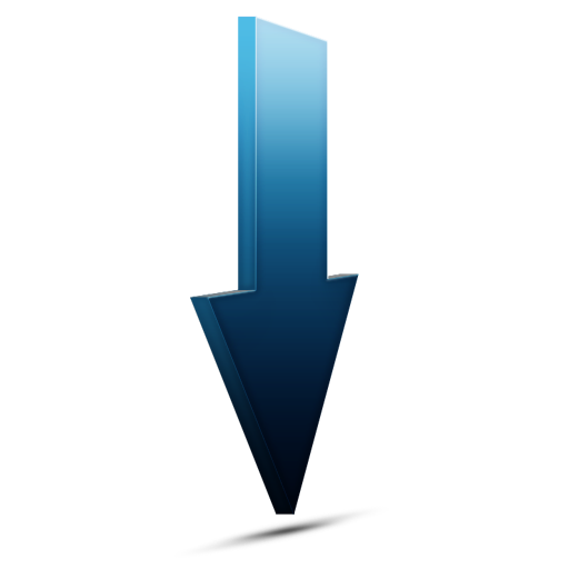 bleu, download icon