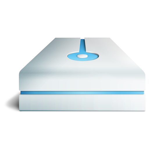 bleu, hdd icon