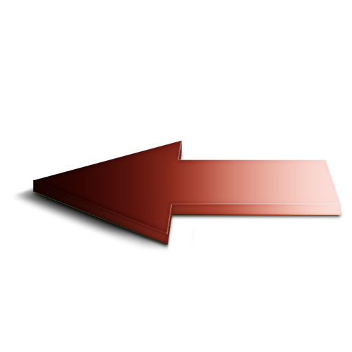 Arrow, back, left, red icon