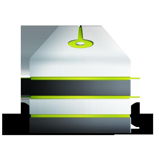 allum, server, vert icon