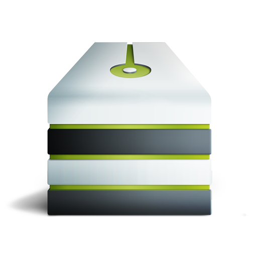 Eteint, server, vert icon
