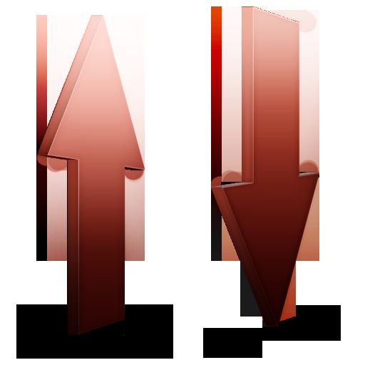 Rouge, transfert icon
