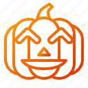 emoji, emoticon, fun, halloween, lantern, pumpkin, spooky icon