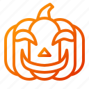 emoji, emoticon, halloween, lantern, pumpkin, smile, spooky icon