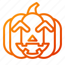 emoji, emoticon, halloween, lantern, laugh, pumpkin, spooky icon