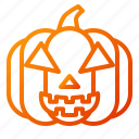 emoji, emoticon, halloween, lantern, pumpkin, scary, spooky icon