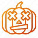confuse, emoji, emoticon, halloween, lantern, pumpkin, spooky icon
