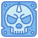 dangerous, signaling, skull, warning icon