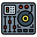electronics, mixing, multimedia, party icon