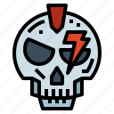 bolt, bone, head, skull