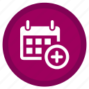 addition, appointment, calender, date, month, stopwatch, time icon