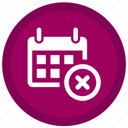 calender, cancel, cross, exit, expired, remove, stop icon