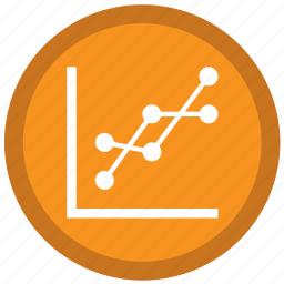 analysis, finance, graph, line, points, stats, trends icon
