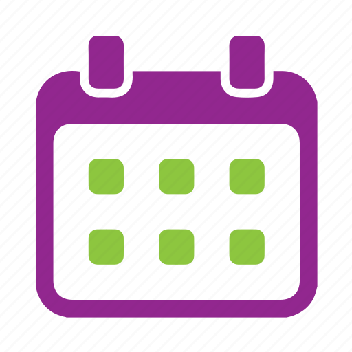 calender, countdown, date, purple, time icon