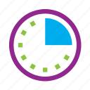 clock, countdown, date, quater, time icon