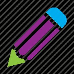 graphite, ink, markerpen, pen, pencil, school, writer icon