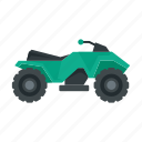 bike, quad, atv, extreme, sport icon
