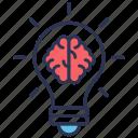 brain, bulb, creativity, energy, mind, productivity, think
